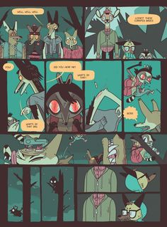 sheahisself:  I wrote about repoghost's Vacancy—->Here.  Thank you Shea! Vacancy's out very, very soon now for the US (4/27/15 I'm told!)Shout (politely) at your comic shops, preorder it here:http://www.nobrow.net/17006or amazon. Get ready to Sink Your Teeth into this Tail about animals overcompensating around one another.