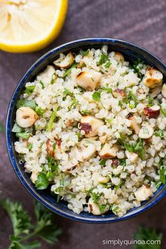 Lemon Herb Quinoa Salad with Toasted Hazelnuts - fresh, light and packed full of flavor | simplyquinoa.com