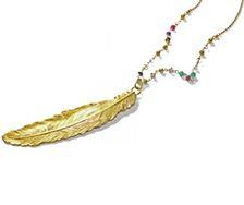 Necklace Feather - Petra Reijrink