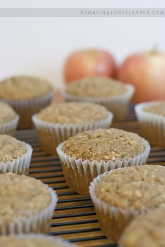 easy banana apple muffins: These were good, but I don't think I sliced the apples small enough. I also added 1 cup of oatmeal instead of 1/2 cup of the flour, some ginger and some nutmeg and used 2 bananas instead of 3. The flavor was good, but the apples weren't as soft as I wanted them to be.