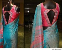 Stylish and Sexy Silk Saree Blouse Designs