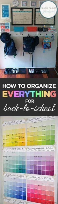 How to Organize Everything for Back-to-School  How to Organize Your Home, Organize Your Home for Back to School, Back to School Organization Hacks, Organization TIps and Tricks, Popular Pin