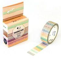 De Strepen van Gradiëntkleur Decoratieve Washi Tape DIY Scrapbooking Afplakband School Office Supply Escolar Papelaria