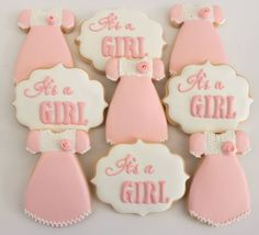 It's a girl baby shower cookies by Miss Biscuit