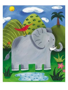 Nellie the Elephant by Giclee Print Would look so cute in the babies room
