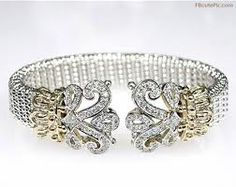 silver and gold and diamond bracelet
