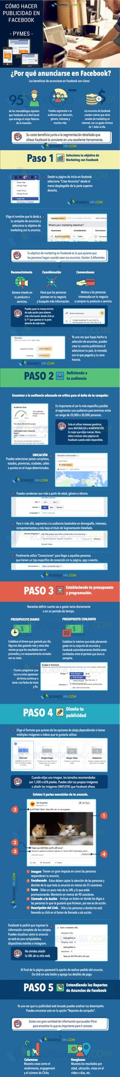 Cómo hacer publicidad en Facebook #infografia