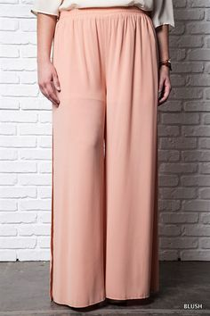 Blush High Waist Plus Size Pant