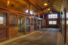 Wood horse stall