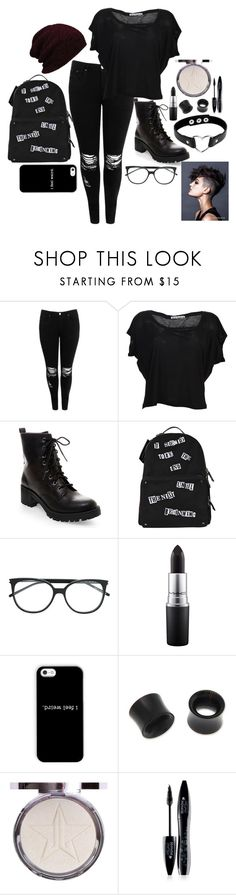 """""""Untitled #165"""" by twocigarettes ❤ liked on Polyvore featuring Boohoo, Acne Studios, Madden Girl, Sakkas, Valentino, MAC Cosmetics, NOVICA and Lancôme"""
