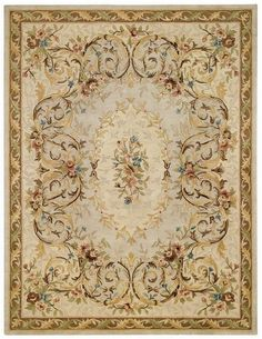 RugStudio presents Capel Evelyn 43697 Beige Hand-Tufted, Best Quality Area Rug