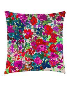 Kitty McCall - Peggy Olsen Print Cushion in Berry - Kitty McCall