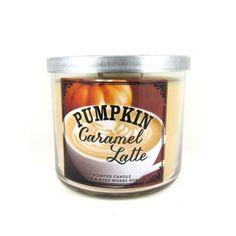 Bath & Body Works 3 Wick Candle 14.5oz  Pumpkin Caramel Latte