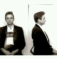 Johnny Cash. He was arrested in El Paso Texas. And people say nothing happens in El Paso :p #VisitElPaso