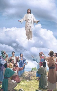 "The Scripture says, ""this same Jesus … shall so come in like manner as you have seen him go into heaven."" Without descending with the cloud, isn't He the Lord Jesus? Jesus Ressuscité, Jesus Our Savior, Jesus Art, Jesus Is Lord, Jesus Risen, Jesus Resurrection, Risen Christ, Crucifixion Of Jesus, Christ The Redeemer"