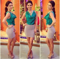 Ana Patricia Style. #TVHost #Outfit
