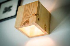 Lámpara de madera Q 117 a mano. Lámpara de pared. lámpara