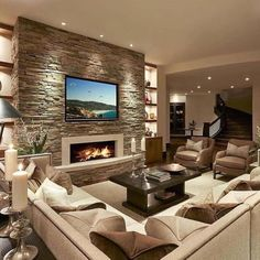 "1,003 Likes, 8 Comments - Big ✖️Interiors (@big.interiors) on Instagram: ""Contemporary living room designed by LMK Interior Design • Follow @big.interiors for the best and…"" #summerdecoratingideasforlivingroominteriordesign"