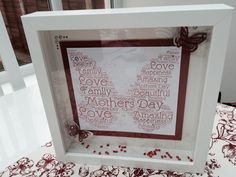Butterfly Word Art Frame Mother Family, Nail Technician, Beautiful Love, Word Art, Framed Art, Butterfly, Home Decor, Decoration Home, Room Decor