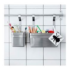 "IKEA - GRUNDTAL, Rail, 31 ½ "", , Saves space on the countertopCan also be used as a towel rail or a pot lid rack."