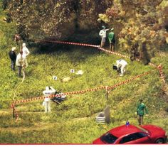 Miniature crime scene