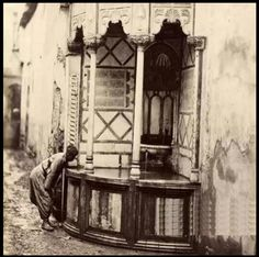 """""""Sabeel"""" (a place where street people can drink water) in Cairo, 1870."""