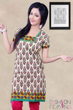 Cotton Printed Short Kurti #shortkurtis #ladieskurti #cottonkurtis #womenskurti #designerprintedkurtis