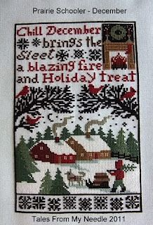 December Sampler by Prairie Schooler from the blog Tales From My Needle
