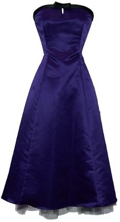 Amazon.com: 50's Strapless Satin Formal Bridesmaid Gown Holiday Prom Dress: Clothing $55