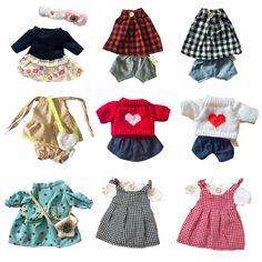 47156a2ded127 30センチ人形服柔らかいウサギのドレススカートセーターままごとバニー人形赤ちゃんアクセサリー用1 6人形女の子子供のおもちゃギフト