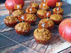 Piernikowe muffiny dyniowe z bakaliami / Halloween