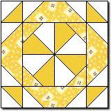 Colored Wheel Quilt Block