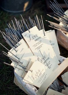 And for your wedding's grand finale... a sparkler send-off!