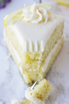 The best vegan lemon cake, easy to make with moist fluffy layers and a lemon buttercream frosting. The best vegan lemon cake, easy to make with moist fluffy layers and a lemon buttercream frosting. Vegan Yellow Cake, Vegan Cake Mix, Vegan Vanilla Cake, Vegan Lemon Cake, Healthy Lemon Cake Recipe, Lemon Recipes Vegan, Dairy Free Lemon Cake, Easy Lemon Cake, Vegan Lemon Desserts
