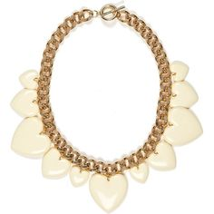 River Island Cream retro heart chunky short necklace ($18) ❤ liked on Polyvore featuring jewelry, necklaces, accessories, colares, heart pendant necklace, steel necklace, retro necklaces, steel chain necklace and heart shaped necklace