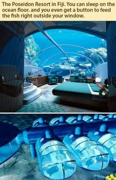 Hotel in Fiji...would love to stay there. I would be paranoid about leaks the entire time but it would be awesome. :P