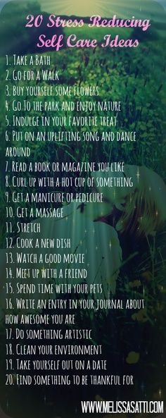 20 Ways to reduce stress or anxiety. | Look around!