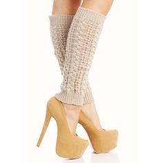 cable knit leg warmers ($6.90) ❤ liked on Polyvore