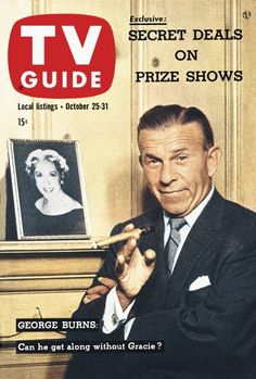 TV Guide, October 25, 1958 - George Burns
