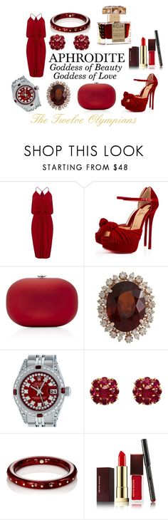 """Aphrodite"" by cianne-hale on Polyvore featuring MISA Los Angeles, Christian Louboutin, Jeffrey Levinson, Rolex, McTeigue & McClelland, Mark Davis, Kevyn Aucoin, Roja Parfums, Homecoming and aphrodite"