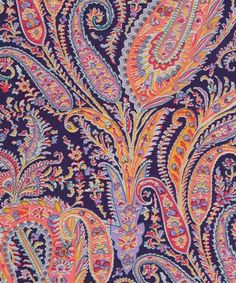 Felix and Isabelle Liberty fabric was derived from a dress fabric design which was originally based on an archival paisley shawl drawing. Liberty Art Fabrics, Liberty Of London Fabric, Liberty Print, Paisley Fabric, Paisley Pattern, Pattern Art, Pattern Designs, Cool Patterns, Textile Patterns
