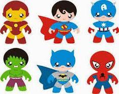 Resultado de imagem para moldes aplicações de super heroes bebe