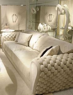 An exclusive sofa with luxurious Italian leather upholstery. The highlight of this amazing sofa is the woven leather arms. Couch Furniture, Leather Furniture, Luxury Furniture, Living Room Furniture, Home Decor Furniture, Furniture Design, Leather Couches, Living Room Sofa Design, Living Room Chairs