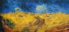 Vincent van Gogh, Korenveld met kraaien, 1890, olieverf op doek, 50.5 x 103 cm, Van Gogh Museum, Amsterdam
