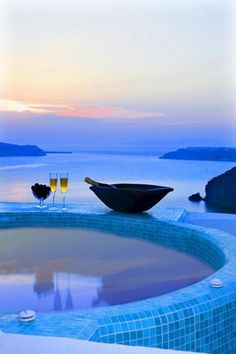 Blue hour in Greece... The best relaxation ever