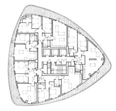 Gallery of Lombard Wharf / Patel Taylor - 24 Hotel Design Architecture, Architecture Today, Concrete Architecture, Building Architecture, Architecture Drawings, Hotel Floor Plan, House Floor Plans, Residential Building Plan, Block Plan