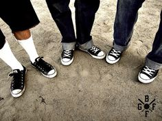 guys in chuck taylors and cuffed jeans or dickies shorts.  pretty hot.