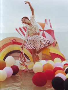 Tim Walker for Vogue UK #balloons Travel, lifestyle, travel lifestyle,  influencer, beach, sea, beach girl, beach day, world traveler, swimwear, swimsuit, swim, bikini, one piece