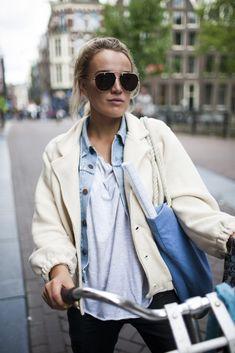 Street wear on a recent chilly day in Amsterdam. biking gear.