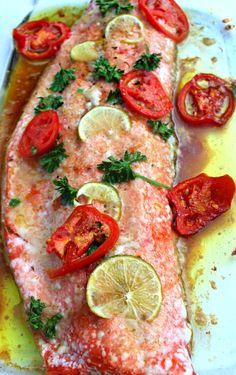 Garden Fresh Salmon & Baked Parmesan Potatoes – Simply Taralynn
